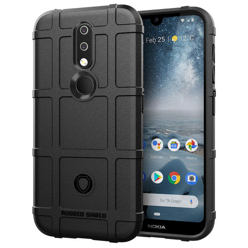 Anti-Shock Grid Texture Shockproof Case for Nokia 4.2 - Black